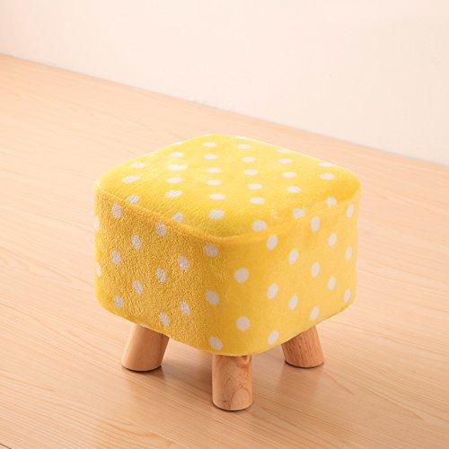 Dana Carrie Bois massif sur un tabouret bas pour des chaussures est à la mode de porter des chaussures qui partie créative tissus chaise fauteuil tabouret table basse banc de la maison, point blanc jaune