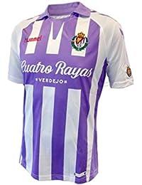 Hummel Camiseta Real Valladolid CF Primera Equipación 2018-2019 Violeta-Blanco Talla S
