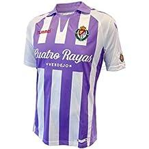 Hummel Real Valladolid CF Primera Equipación 2018-2019, Camiseta, Violeta-Blanco,