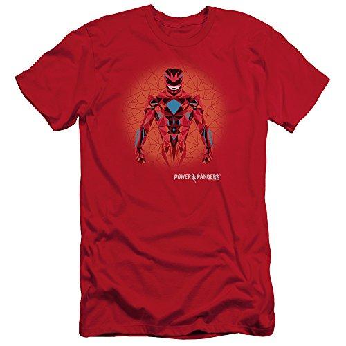 Power Ranger T-Shirt Prismatic Red Ranger Slim Fit Gr. M (Red Ranger Tshirt Power)