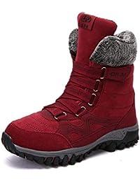 Desconocido Calzado Casual de Mujer, Botas de Nieve Abrigadas de Terciopelo Y Botas de Invierno