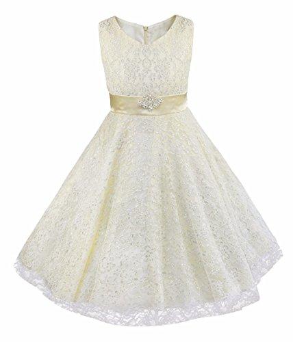 iEFiEL Mädchen Kinder Kleid Festlich Hochzeit Abendkleid Kommunionkleid 104 116 128 140 152 164 176...