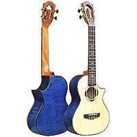 Hjyi Ukelele, Ukelele de Chapa de Madera sólida Arce pequeña Guitarra de Cuatro Cuerdas (