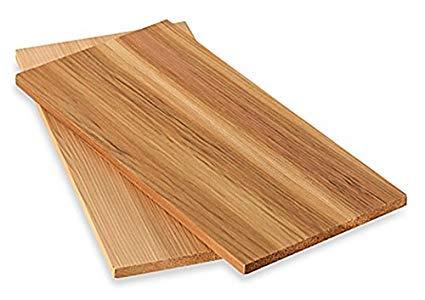 timtina® Lot de 2 planches à fumer en cèdre, 28 x 14 cm 4 Grillbretter ca 28x14 cm