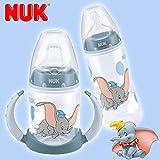 Nuk Babyflasche, 300 ml, mit Trinkflasche, weich, 150 ml, Disney Baby Dumbo 6-18 Monate
