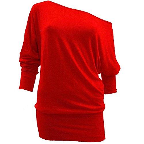 asfashion online -  Maglia a manica lunga  - Basic - Maniche lunghe  - Donna Red