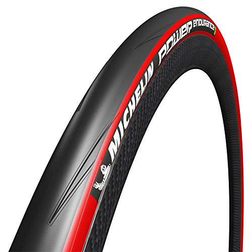 Michelin Power Endurance Pneu de vélo Route Mixte Adulte, Rouge, 700 x 23C