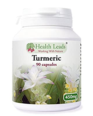 Turmeric 450mg x 90 capsules (Pure Herb 100% Additive Free Supplements) from Health Leads UK