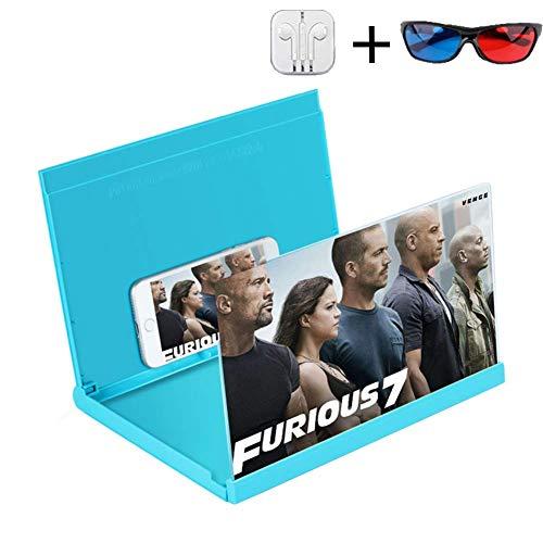 upe Smartphone-Lupe Anti-Strahlung Vergrößerer Bildschirm für Mobiltelefon Film-Video-Bildschirmverstärker Mini-Heimkino ()