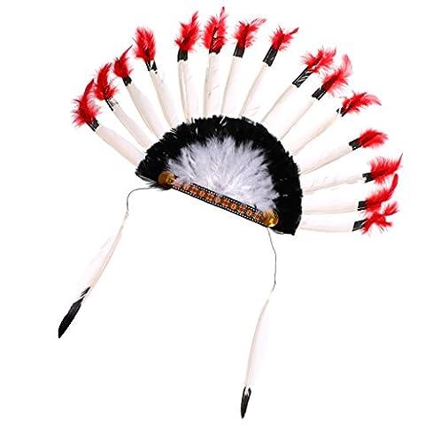 MagiDeal Adulte Enfant Coiffe de Plume Indien Chapeau Costume Ethnique pour Déguisement Cosplay Holloween