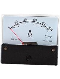 DC 100A Panneau Analogique Ampère Courantomètre Calibre De L'ampèremètre DH-670