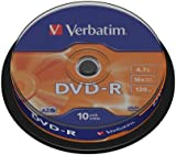 Verbatim 43523 DVD-R 16x 10pk spindle