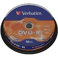 Verbatim DVD-R 16x Speed 10er Spindel matt-silver DVD-Rohlinge