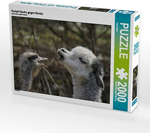 CALVENDO Puzzle Puzzle Puzzle Kampf Alpaka gegen Nandu 2000 Teile Lege-Grösse 90 x 67 cm Foto-Puzzle Bild Von | Perpignan  55cec6