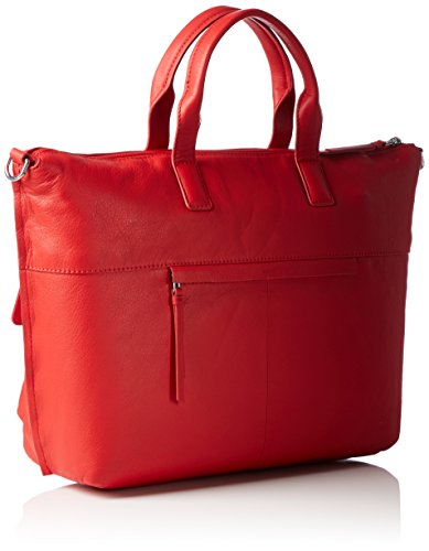BREE Damen Toulouse 6 Schultertaschen, 44x30x12 cm Rot (red smooth 151)