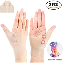 2 Gel-Handgelenk-Stützklammern Gel Karpaltunnel-Handgelenkstütze, Daumen-Handgelenkstütze für Arthritis, Karpaltunnel, Tendinitis für Männer und Frauen