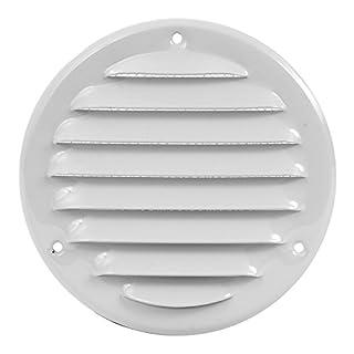 MKK - 18529-036 - Lüftungsgitter Wandgitter Abschluss Metallgitter Abluft Zufluft Insektenschutz verschließbar Ø 160 mm weiß