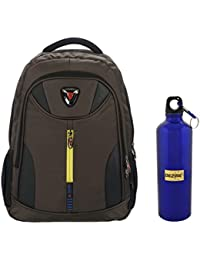 IRISH Combo Of Multicolor School, College Backpack With Bottle 500 Ml