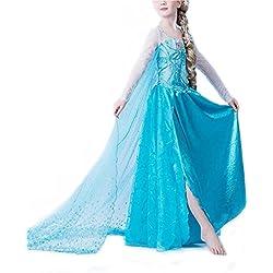 Nice Sport-Disfraz de la princesa Elsa de Frozen, disfraz para niña