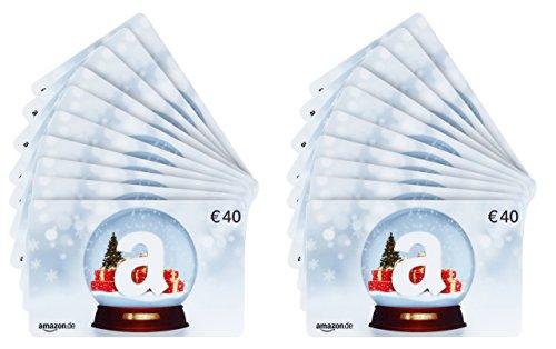 Amazon.de Geschenkkarte - 20 Karten zu je 40 EUR (Schneekugel) (Schneekugel österreich)