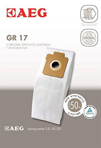 AEG GR 17 Staubsaugerbeutel, Grösse 17 für Handstaubsauger Vampyrette, AS201, AS206, AVBG300, AVBG3