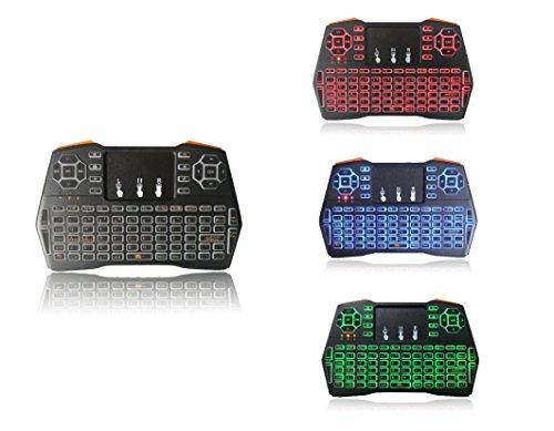 orbeet 2.4GHz Mini Teclado Inalámbrico con Ratón Touchpad con retroiluminación LED batería Combos para PC, Pad, Google Android TV Box, Xbox 360, PS3, HTPC, IPTV y más.