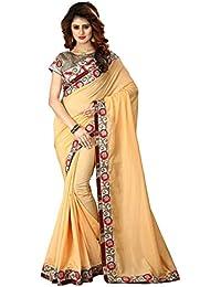 Greenvilla Designs Yellow Silk Wedding Saree With Blouse