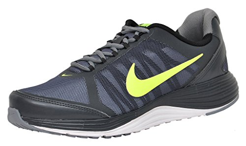 Nike Men's Revolve 2 Dark Grey and Fluroscent Green Running Shoes