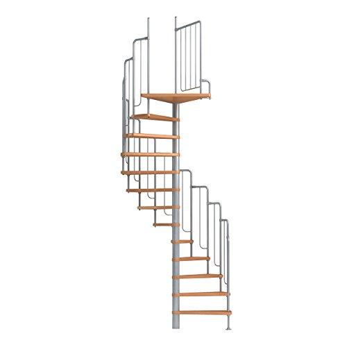 Spindeltreppe Wendeltreppe DOLLE Barcelona, Geschosshöhe: 229-291 cm, Stufen: Buche,...