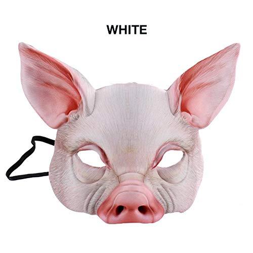 Funsquare Halloween Mardi Gras Carnaval Party Mascarade EVA Demi Visage Animal Cochon Masque Unisexe Accessoires Outil