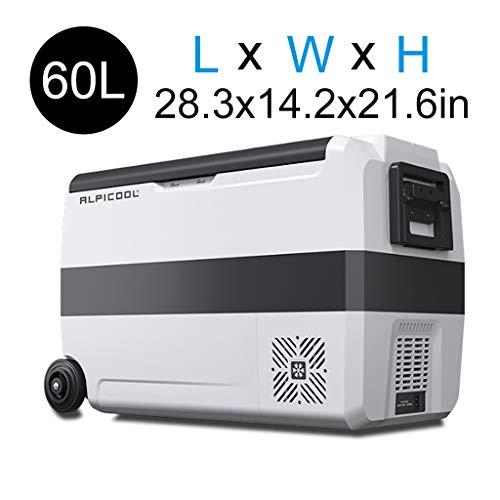 AiYe Kühltaschen & -boxen 36/50/60 l Auto kühlschrank Kompressor tragbare Mini gefrierschrank12 / 24v, 220 v Auto nach Hause dual-use-mobiler kühlschrank Camping gefrierschrank