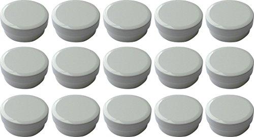 15 Salbendöschen, Creme-döschen, Salbenkruke flach, 12ml Inhalt - MADE IN GERMANY