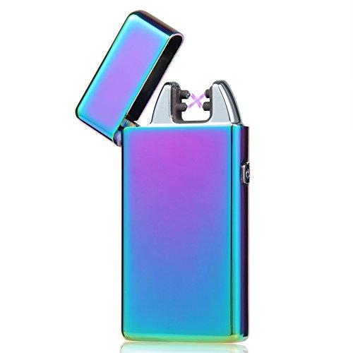 5 Stunden DEAL - USB Feuerzeug - Padgene Lichtbogen Feuerzeug , Doppel-Lichtbogen flammenloses elektronisches Feuerzeug - SCHNELLER - ST&AumlRKER - SICHE