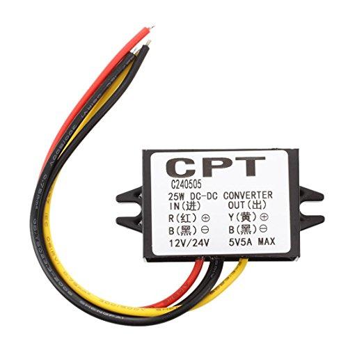 FengYun® 12V Step Down zu 5 V Auto Netzteil Konverter Transformator Spannungsregler - Elektrische Stromrichter