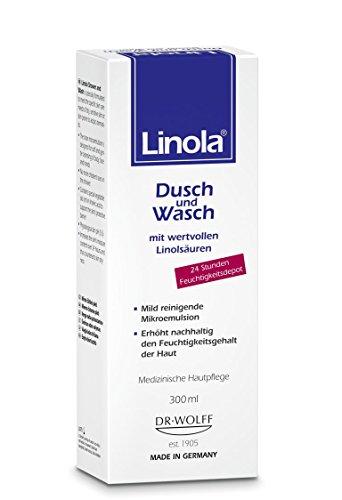 Mild Gesicht (Linola Dusch und Wasch, 1 x 300 ml - für trockene oder zu Neurodermitis neigende Haut)