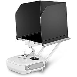 RC GearPro Smartphone pliable iPads Tablettes Moniteur Étui pare-soleil pour DJI Mavic Air / Pro / Spark / Phantom 3 4 Pro / Inspire 1 2 / Osmo et autres drones RC Télécommande Sun Shield