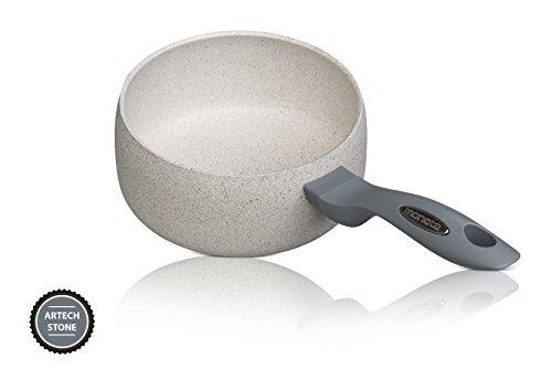 Moneta - Mammola Stone - Pentola / Casseruola 16 cm - con manici - rivestimento in ceramica - lavabile in lavastoviglie