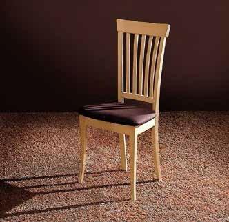Santarossa-Stuhl Liberty, Finish Eiche hell und Stoff Caffe ', se1710C, Dim. L.48H.98p.44cm -