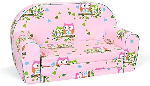 MuseHouse Kinderschlafsofa Kindersofa mit Bettfunktion Couch Kindermöbel Ausklapp Kindersessel, zum Schlafen und Spielen - 2 Sitzer I Big