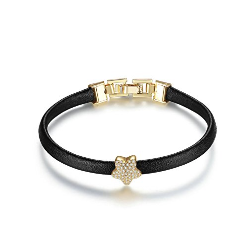 Bishilin Damen Armband Versilbert Sterne mit Weiß Zirkonia Hochzeit Armband Damen Armband - Gold Armbänder Nepal
