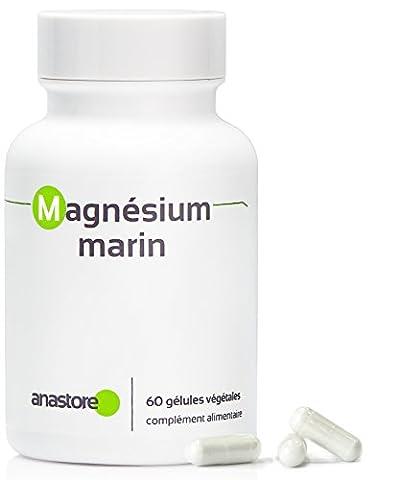 MAGNESIUM MARIN * Titré à plus de 58.8% en magnésium élément * 300 mg / 60 gélules végétales * Pur extrait d'eau de mer * Pour surmonter les coups de fatigue et le stress * Conseillé aux sportifs * Fabriqué en FRANCE * Qualité contrôlée par certificat d'analyse * 100% satisfait ou remboursé