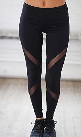 Legging Yoga - Hippolo Femmes Noir Sexy Skinny Perspective Leggings
