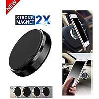boka LXCN Portable Pocket Sized Lightweight Universal Magnet Windshield/Dashboard Travel Stand Phone Car Mount Holder for All Mobile Phones (Black)
