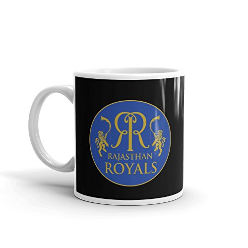 CraftMania Rajasthan Royals Coffee Mugs for Friends - Indian Premier League - ipl Merchandiser - 350 ml Capacity - Standard Size
