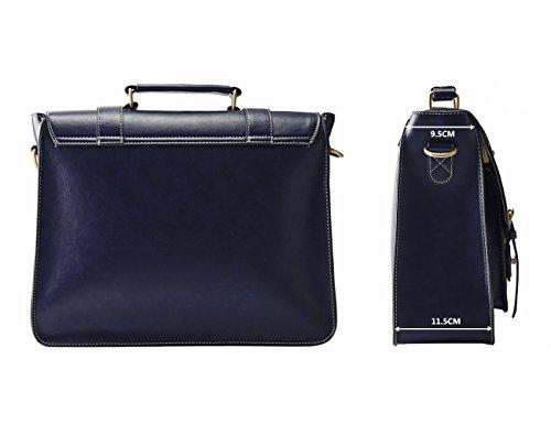 ECOSUSI Borsa Tracolla Donna Borsa Messenger Donna per Laptop 14'' Borsa Vintage per Lavoro Blu