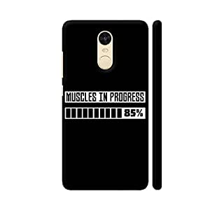 Colorpur Muscles in Progress Workout On Black Printed Back Case Cover for Redmi Note 4