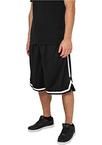 Preisvergleich Produktbild Urban Classics Stripes Mesh Shorts TB243, color:black/black/white;size:M
