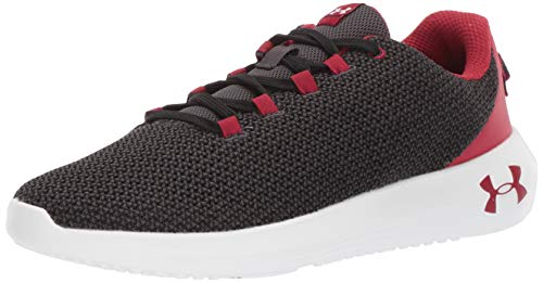 Under Armour Ripple, Scarpe Running Uomo, Nero (Black/Jet Gray/Aruba Red 005), 41 EU