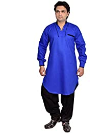 Arzaan Creation's Blue designer Pathani Kurta With Black Shalwar