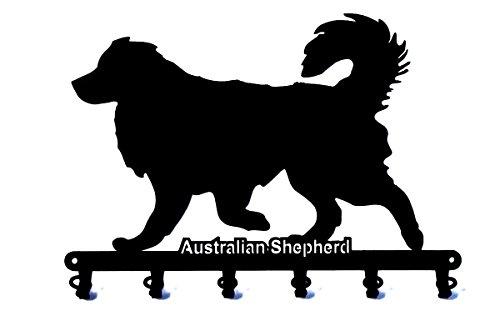 steelprint.de Schlüsselbrett/Hakenleiste * Australian Shepherd * - Schlüsselboard - 6 Haken